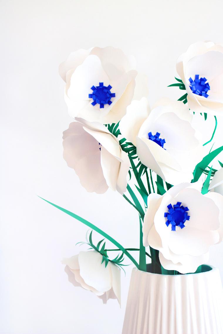 DIY Fleurs en papier  - Portfolio