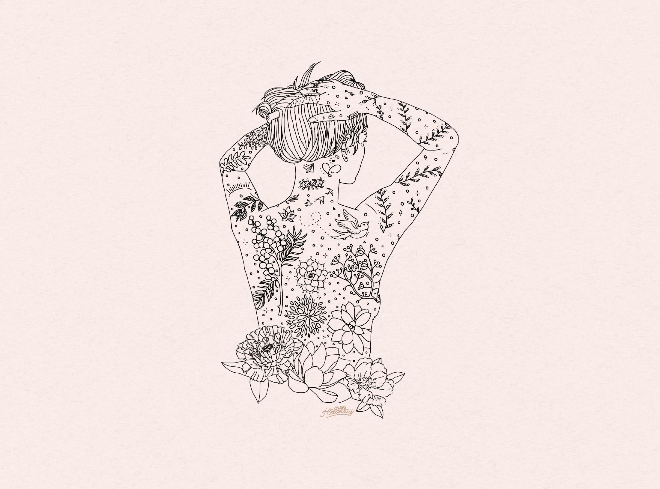 Illustration La Femme Tattoo