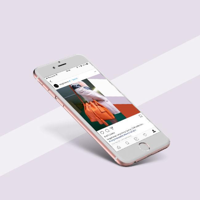 Design instagram Longchamp